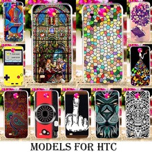 TAOYUNXI Phone Cover Case for HTC Desire 300 301E 4.3 inch Case Muti-Color Painting Hard Plastic Cover Housing Skin Bags