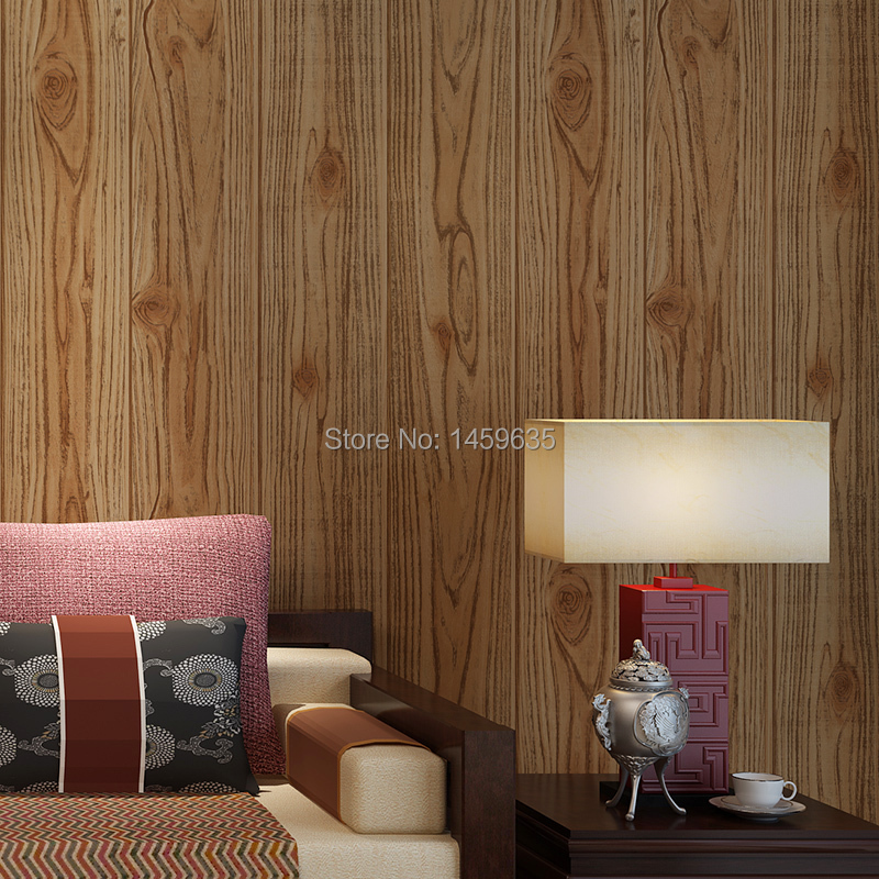 New Chinese imitation wood retro wallpaper wallpapers for walls of living room stereo wooden teahouse Bar Cafe<br>