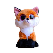 Ty Beanie Boos Original Big Eyes Plush Toy Doll Child Brithday 10 - 15cm Foxes TY Baby For Kids Gifts
