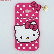 New 3D Cartoon Hello Kitty Case Soft Silicon Back Cover for Samsung Galaxy 2017 A5 A520 A5200 Rubber Phone Shell