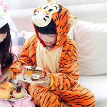 Children Kid Pajamas Animal Onesie Sleepwear Jumping Tiger Cosplay Costume Sleepwear Pyjama Cartoon Tiger Pajama Free Shipping