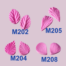 M211 Phalaenopsis flower Multi Texture leaves silicone fondant cake molds soap chocolate mould for the kitchen baking clay mould