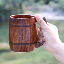 350ml Creative Wooden mugs coffee tea cups beer wine Caneca Large insulated Tumbler For Home With Hand grip milk Xicaras Gift(China)