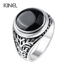 Punk Rock Rings For Men Personality Fine Jewelry Accessories Color Silver Black Enamel Ring Retro Jewellery Wholesale Mix Lots