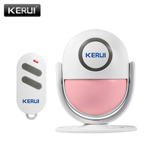 KERUI P6 Welcome Alarm Chime Wireless Security Protection Infrared IR Motion Sensor Door bell Alarm Doorbell+Remote Controller(China)