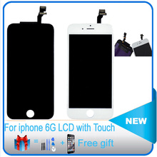 AAAA+ 100% no dead pixel lcd Touch Screen Digitizer & LCD Assembly Replacement For iPhone 6 6 Plus  6S 6S plus+ tempered glass