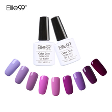 Elite99 Purple Color Series Nail Gel Polish 10ml Pink UV Gel LED Lamp Manicure Lacquer Soak Off Long Lasting Nail Art Gel(China)