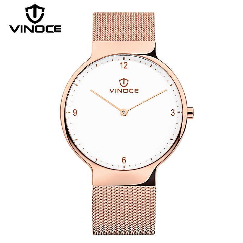 VINOCE 2017 New Luxury Stainless Steel Band Quartz Watches Mens Simple Fashion Clock Waterproof Relogio Masculino #V60018<br>