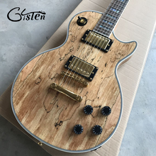 Free delivery arrives at G custom shop, natural wood top, custom electric guitar, gold hardware, Paul guitar, custom LP guitar(China)
