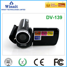 Freeshipping cheap digital video camera DV-139 4X digital zoom 32GB memory 720p hd mini video camcorder