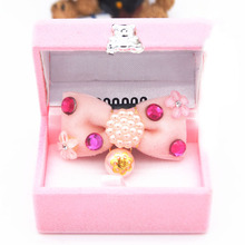 Cute Rhinestone Luxury pearl Pet dog cat Hairpin princess dog Puppy Hair Clips Dog Grooming bows dog wedding hair accessories