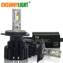 CNSUNNYLIGHT Super Bright LED Car Headlight H7 H11/H8 9005/HB3 9006/HB4 9012 D1/D2/D3/D4 H4 H13 45W 6800Lm/Bulb 6000K Pure White(China)