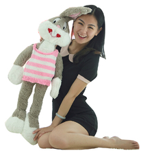 Free shipping large 160cm Bugs Bunny doll, cartoon dressing rabbit plush toys, 3 colors pillow, girl's Valentine's Day gift
