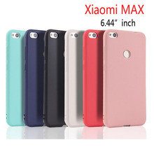"Xiaomi Mi MAX 6.44""inch Ultra-thin Clear and Matte Solid Candy color Case For Xiaomi MAX Back Cover Protect Skin Silicon case"