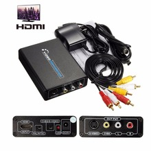 UK Plug HD High Definition Video Audio Converter 1080P HDMI to 3 RCA AV CVBS Composite S-Video S Terminal  R/L Converter Adapter