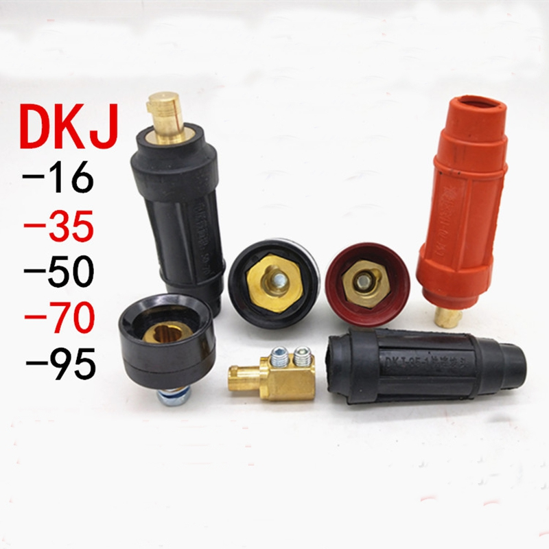 European Style DKJ 35-50 Welding Cable Quick Connector Male Plug 315A Red