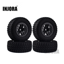 INJORA 4PCS Wheel Rim & Tires Set for 1/10 RC Short-Course Truck Traxxas Slash HPI RC Model Car(China)