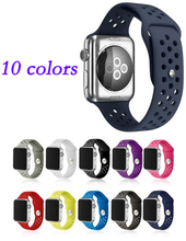 Nice Silicone sport hole strap band For Apple Watch 42mm 38 Series 2