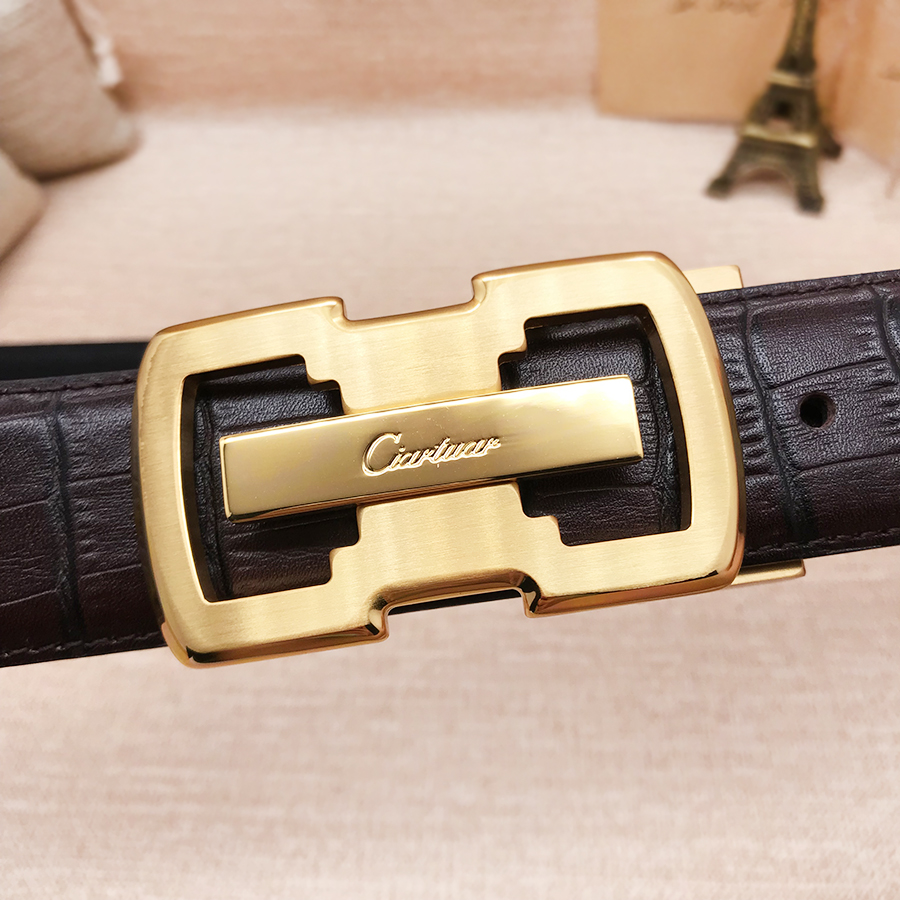 2019 new design belt high quality men genuine leather strap trousers first layer suit ciartuar brass small buckle free shipping