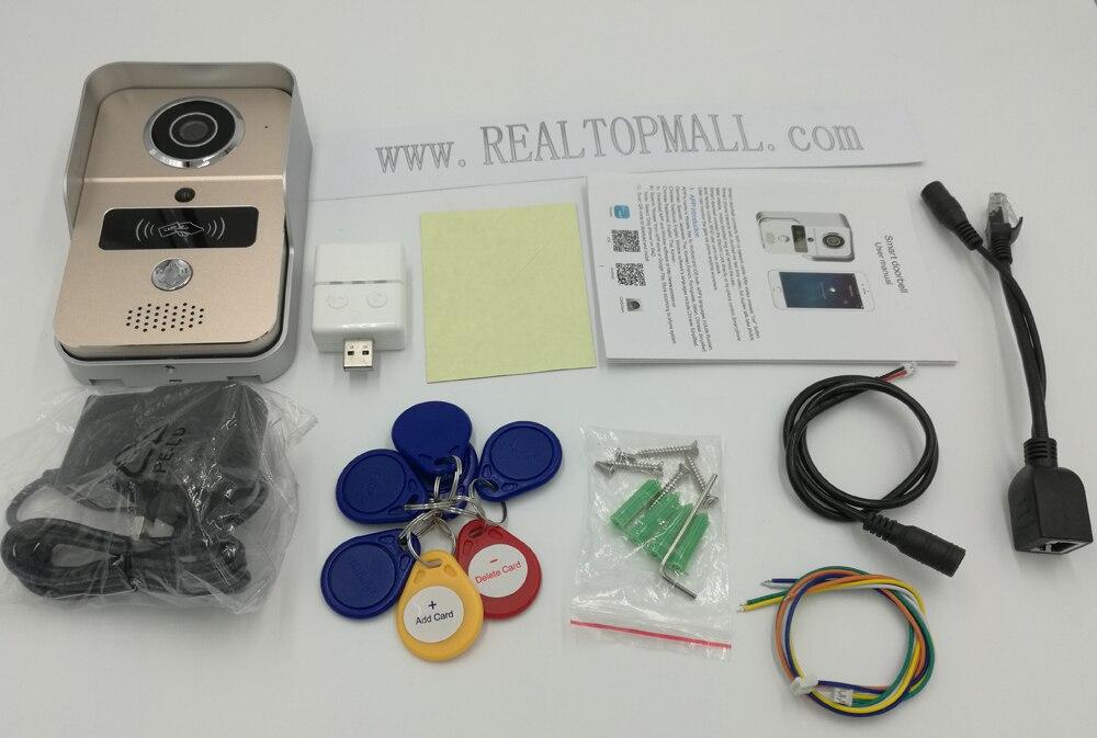 pacakge of WiFi Video Door phone intercom Doorbell Wireless Unlock Peephole Camera Doorbell