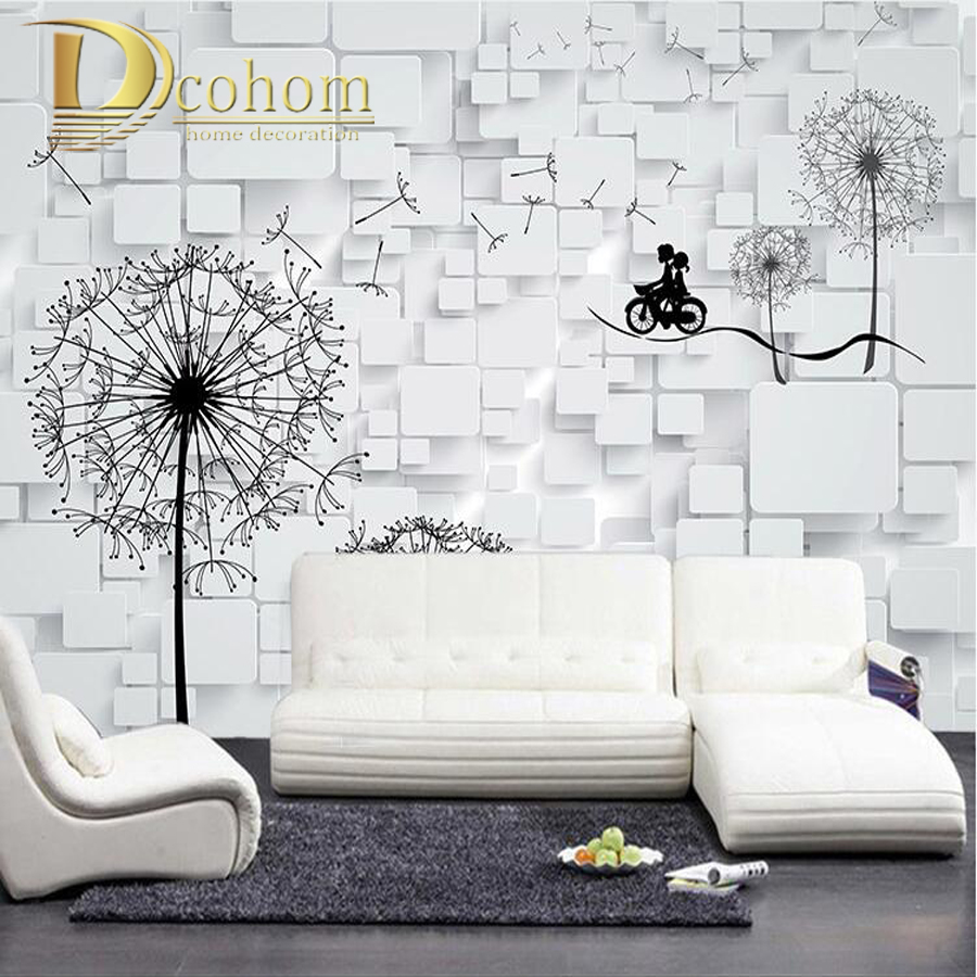 Custom Modern 3D Large Photo Wallpaper For Bedroom Living Room Sofa TV Background Wall Decor Dandelion Mural Wall paper<br><br>Aliexpress
