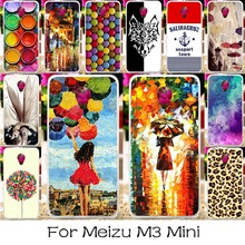 Plastic Silicone Mobile Phone Case For Meizu M3 Mini M3S Mini Blue Charm 3 3s Meilan 3 5.0 inch Meilan3 Cover Angel Girls Shell