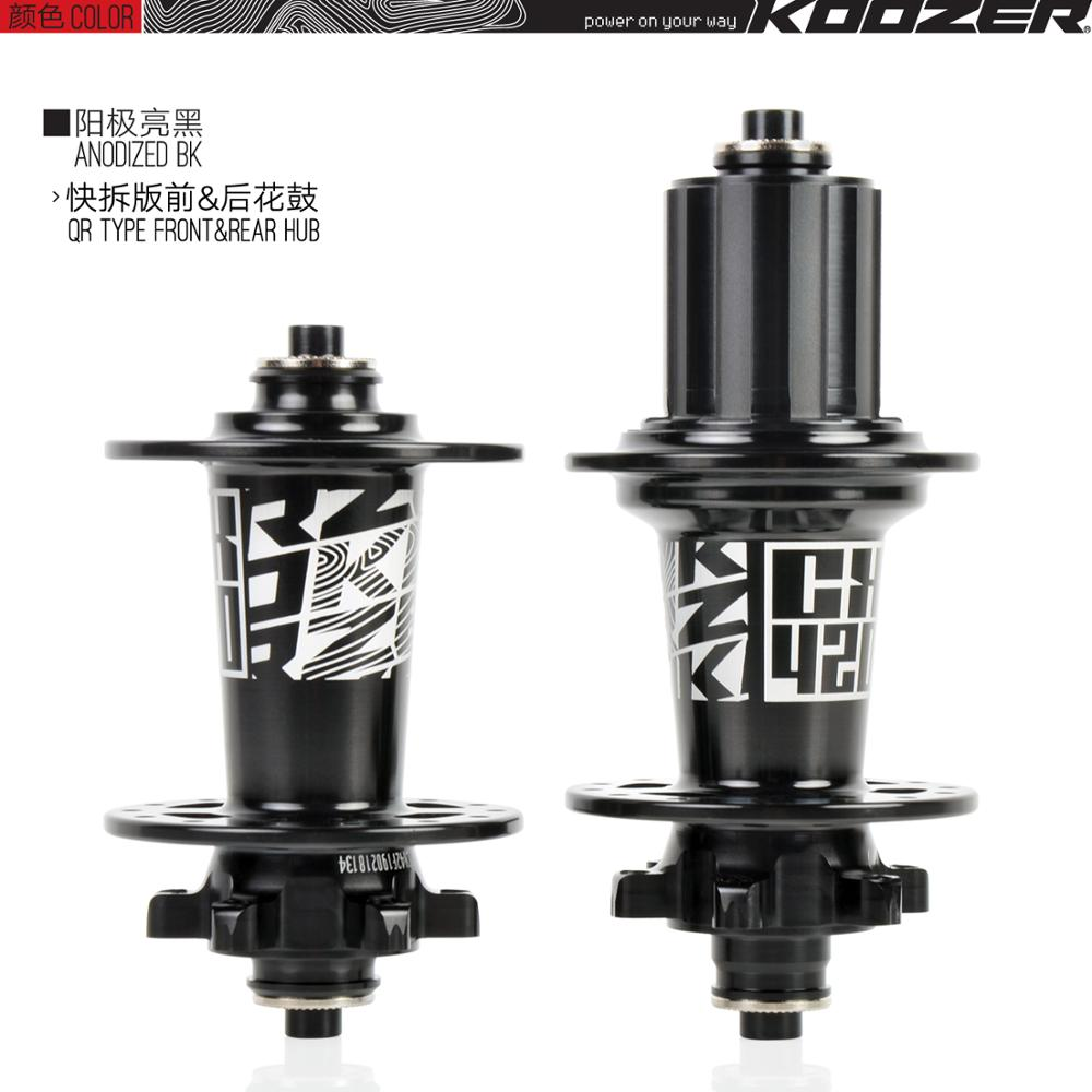 Koozer VTT Disque de frein AVANT//MOYEU ARRIÈRE XM490 CNC en Aluminium Pour Shimano SRAM 8-11 S