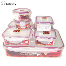 Hot 8pcs kitchen organizer set plastic food container food storage boxes bins organizador candy cookie tins freshness box cajas