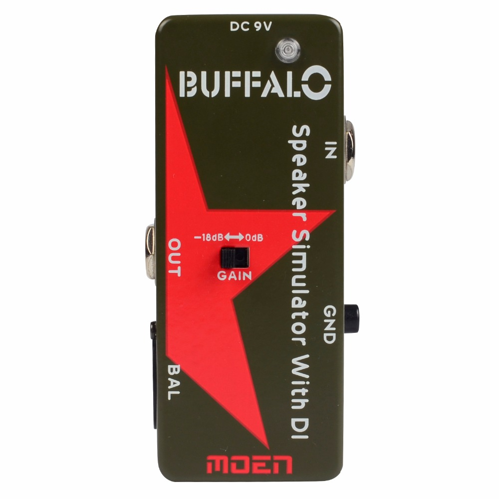 Moen Bufflo Effect Pedal Speaker Simulator with DI Electric Guitar Effects NDI-E2<br>