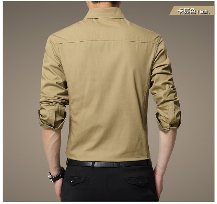 Famous Camisa Male Shirts Long Sleeve Men Shirt Fashion Casual Business Formal Shirt Chemise Homme Autumn Brand Clothing (8)