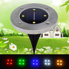 Buy 2PCS 4 LED Solar Powered Buried Floor Light Outdoor Ground Light Garden Patio Lawn Yard Driveway Waterproof Decoration Lamp for $14.99 in AliExpress store