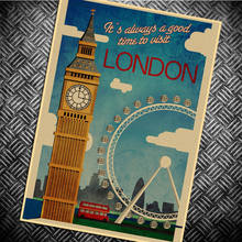 London Flag Retro poster Classic chart character Vintage posters wall stickers wall art painting wallpaper cafe  decor