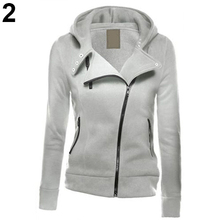 Women Fashion Zipper Hoodie Hooded Sweatshirt Coat Jacket Casual Slim Outwear