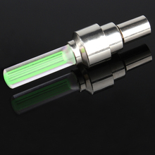 New Bicycle Alarm Tyre Tire Wheel Light Car Bike Cycling Motorcycle Tire Wheel Green Lights(China)