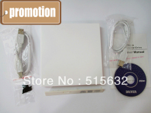 Laptop External USB 2.0 CD DVD ROM Portable Drive Enclosure IDE External Case White