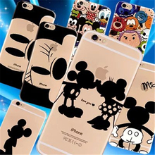 "Lovers Minnie Mickey Case For Coque iPhone 6 6S 5 5S 6PLUS Case TPU Clear Carcasa Funda For iPhone 6s 4.7"" Cases Cover Capinha(China)"