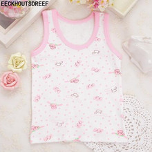 Kids underwear model girls Tanks Tops Baby Girl Summer vest girl Children Cartoon Undershirt Sleeveless Vest 1PCS/LOT D-YL5018-1(China)