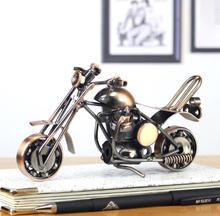 Home Decoration Crafts Figurines Miniatures iron Casting antique imitation Vintage motorcycle models free shipping
