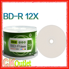 bluray 25gb Ritek blu-ray disc 50pcs BD-R + Free Gift 2-12X Speed A+ Grade Printable Blu ray Blank BDR Disc