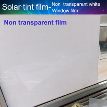 5ftx33ft Office Privacy Window Film White Non-Transparent Solar Tint film For glass Partition/Window wall 1.52x10m(China)