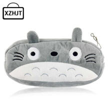 Cartoon Animals Hello Kitty Spongebob Totoro School Kids Pen Pencil Bag Case Girl Lady'S Coin Bag Cosmetics Purse Wallet(China)