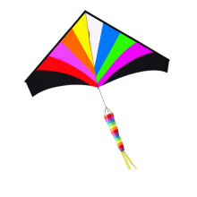 Large Delta Kite With Windsock - Perfect for Relaxing of Fun At the Beach - Give It a Try! Good Flying That You Will Love It!(China)