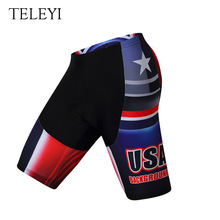 TELEYI Men 3D Padded Coolmax Gel Bicycle Shorts Quick Dry Cycling Bib short Pro MTB Bike Strap pantalones cortos