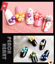 Nail pearl jewelry size mixed Japanese magazine nail drill highlight pearl round ball South Korea heap drill(China)