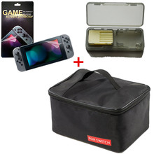 Buy Big Cloth Pouch Travel Protective Storage Box Carrying Storage Bag +Game Screen Protector+Game Card Case Nintend Switch NS for $10.00 in AliExpress store