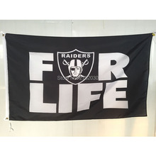 Sinonarui FLAG Oakland Raiders Sports Team Football Banners White Sleeve RAIDER NATION Black Products Oakland Raiders 001