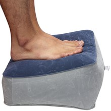 Pillow Cushion Foot Rest PVC Inflatable Poratble Travel Foot Pain Relief Cushion Pad Relax Footrest Home Outdoor Supplies