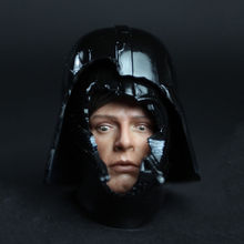 HOT FIGURE TOYS 1/6 HT DX07 VIP Darth Vader helmet and Luke Skywalker fear face Free Shipping