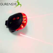 Hot! Waterproof Rear bicycle light Have 7 Cool Flash Mode Rear Led Bike Lights Safe Warning 5LED+2Laser bike accessories Red