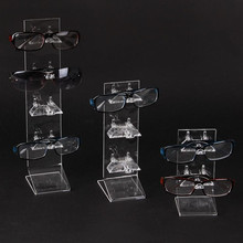 LAN LIN 3d glass display frame acrylic display stand for glasses  Sunglasses display stend incorporating props three style rack